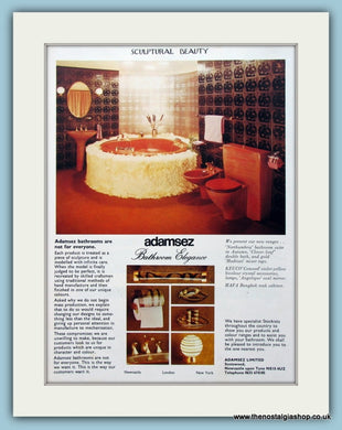 Adamsez Bathrooms Original Advert 1975 (ref AD4491)