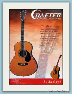 Crafter TA-050 Guitar Original Advert 2003 (ref AD2741)