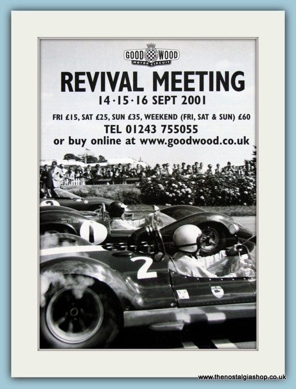 Goodwood Revival Meeting 2001. Original Advert (ref AD2023)