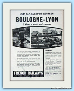 French Railways Boulogne-Lyon Original Advert 1956 (ref AD6541)