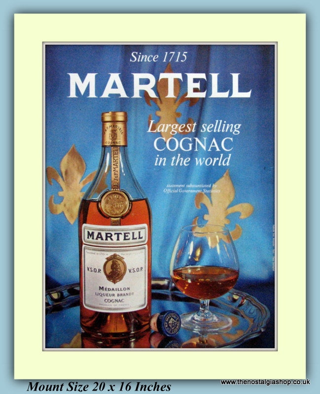 Martell Cognac Brandy Original Advert 1969 (ref AD9347)