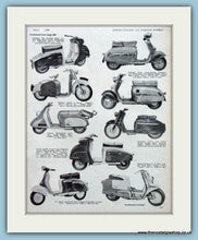 Load image into Gallery viewer, Scooter Range 1960 2 Mounted pages. 1960 (ref AD4085)