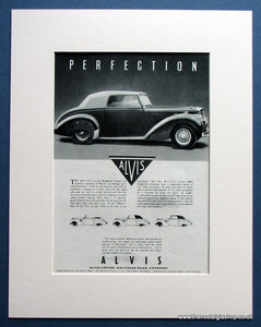 Alvis TC 21/100 Drophead Coupe 1954 Original Advert (ref AD1466)