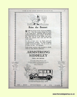 Armstrong Siddeley British Car 1925 Original Advert (ref AD6653)