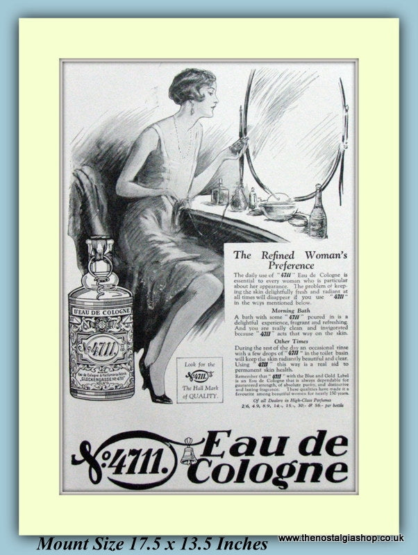 4711 Eau De Cologne Original Advert 1927 (ref AD9244)