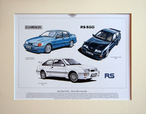 Ford Sierra RS Cosworth  Mounted Print