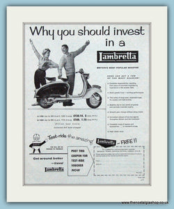 Lambretta Scooter 1959 Original Advert (ref AD4077)