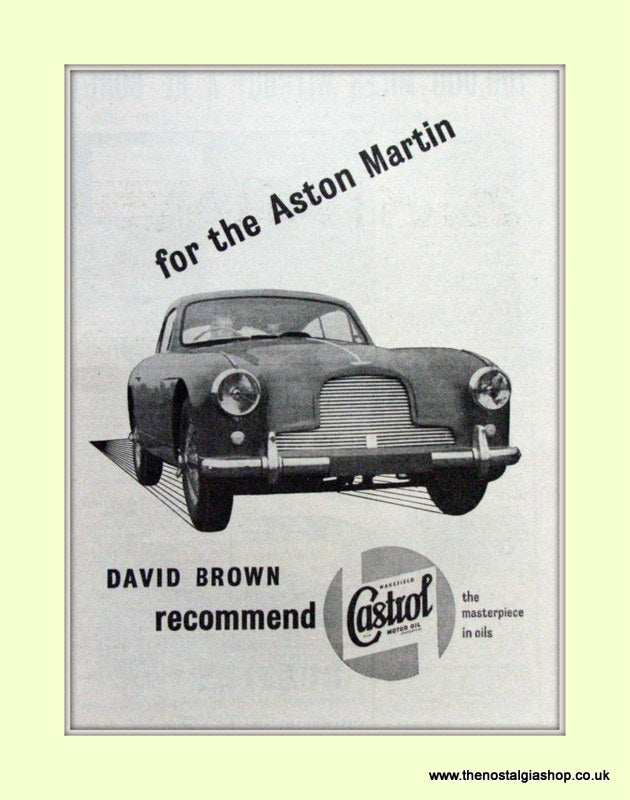 Aston Martin Castrol Motor Oil Original Advert 1954 (ref AD6695)