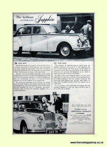 Armstrong Siddeley Automatic Sapphire Original Advert 1955 (ref AD6659)