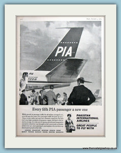Pakistan International Airlines Original Advert 1964 (ref AD2188)