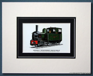 Great Western Railway 'Countess' Mounted Print (ref SP85)