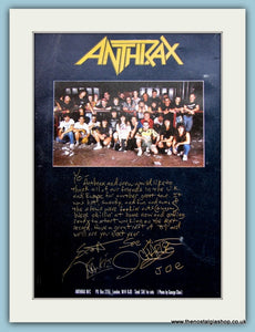 Anthrax And There Crew  Original Advert (ref AD3044)