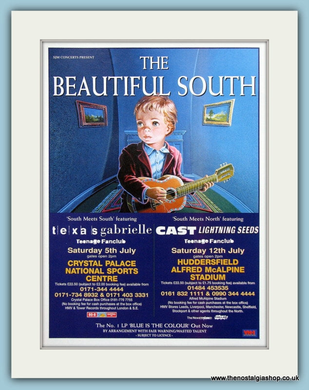 The Beautiful South Blue Is The Colour Concert Dates 1997 Original Music Advert (ref AD3427)
