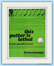 Load image into Gallery viewer, Greenmaster Putters. Original Advert 1968. (ref AD4989)