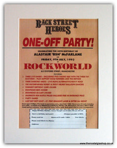 Back Street heroes-One off Party 1993 Advert (ref AD1841)