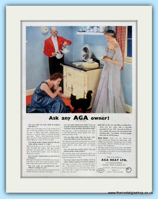AGA Cooker. Original Advert 1954 (ref AD4756)