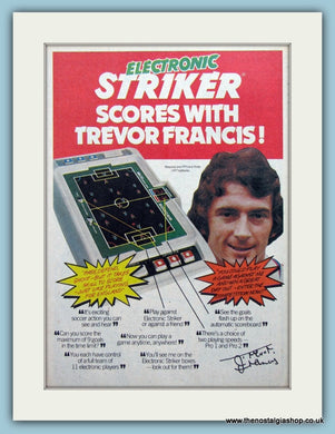 Trevor Frances Electronic Striker Original Advert 1980 (ref AD6430)
