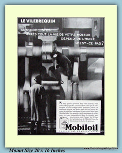 Mobil Oil French Original Advert 1931 (ref AD9195)