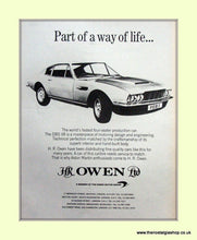 Load image into Gallery viewer, Aston Martin Set Of 3 Original Adverts 1969/71 (ref AD6686)