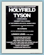 Load image into Gallery viewer, Tyson v Holyfield 1991 Original Advert (ref AD4394)