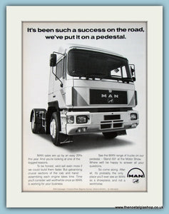 Man Trucks Original Advert 1988 (ref AD2940)