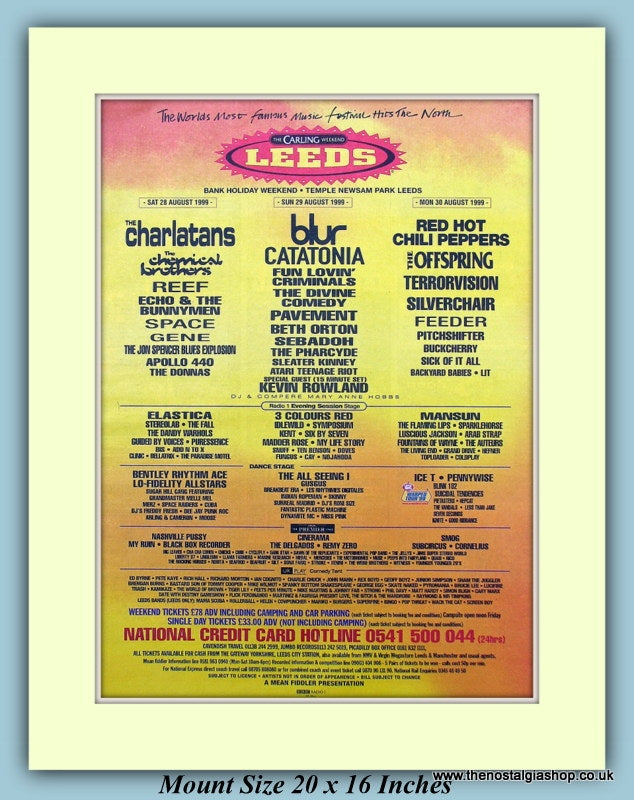Carling Leeds Festival 1999 August Original Advert (ref AD9025)