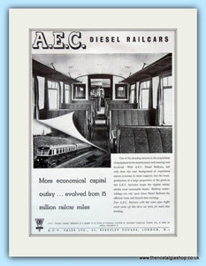 A.E.C. Diesel Railcars Original Advert 1951 (ref AD6474)