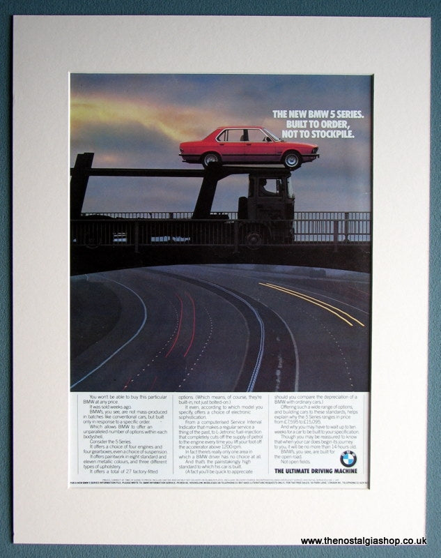 BMW 5 Series 1982 Original Advert (ref AD 1642)