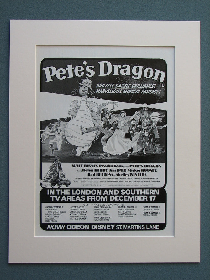 Pete's Dragon 1978 Original advert (ref AD662)