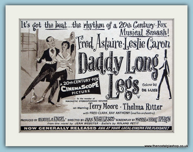 Daddy Long Legs starring Fred Astaire, 1955 Original Advert (ref AD3233)