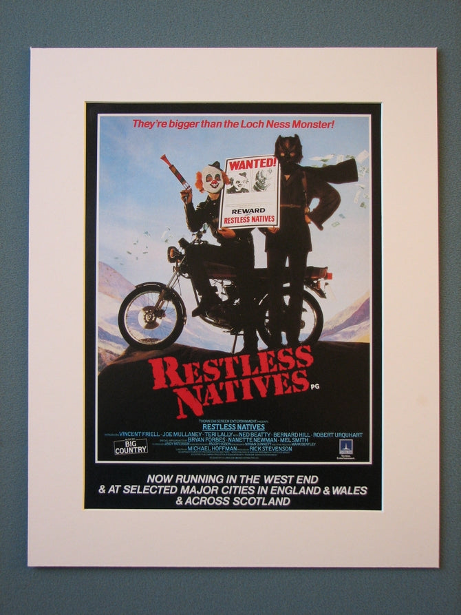 Restless Natives Original Advert (ref AD415)