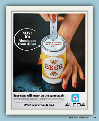 Alcoa New Aluminum Beer Cans. Original Advert 1963 (ref AD8152)