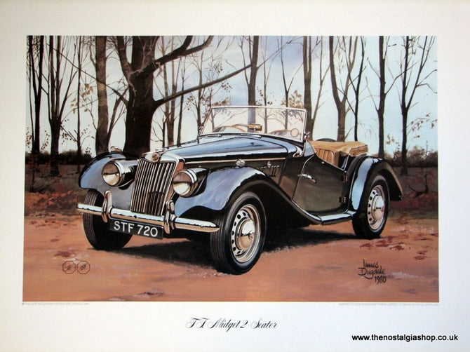 MG Print, TF Midget 2-Seater. Classic Large Car Print.