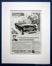 Load image into Gallery viewer, Austin Healey 100. Set of 2 Original adverts1955 (ref AD1390)