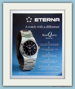 Eterna Watch. Original Advert 1977 (ref AD6116)