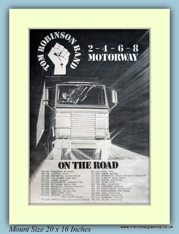 Tom Robinson Band Oct Tour Dates 1977 (ref AD9128)