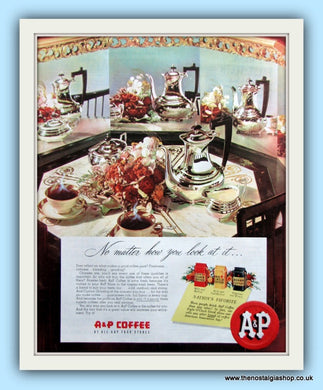 A & P Coffee. Original Advert 1951 (ref AD8127)
