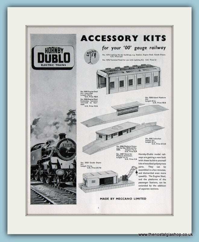 Hornby Dublo Electric Trains Accessory Kits 1961 Original Advert (ref AD2853)
