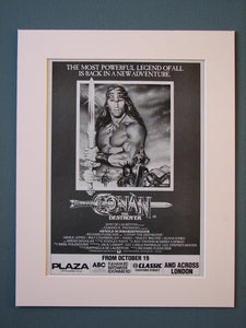 Conan the Destroyer 1984 Original advert (ref AD422)