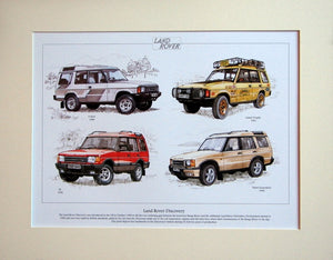 Land Rover Discovery  Mounted Print (ref PR 6001)