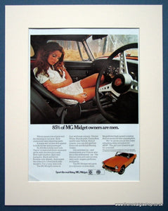 MG Midget 'Suggestive' Original advert 1970 (ref AD1367)