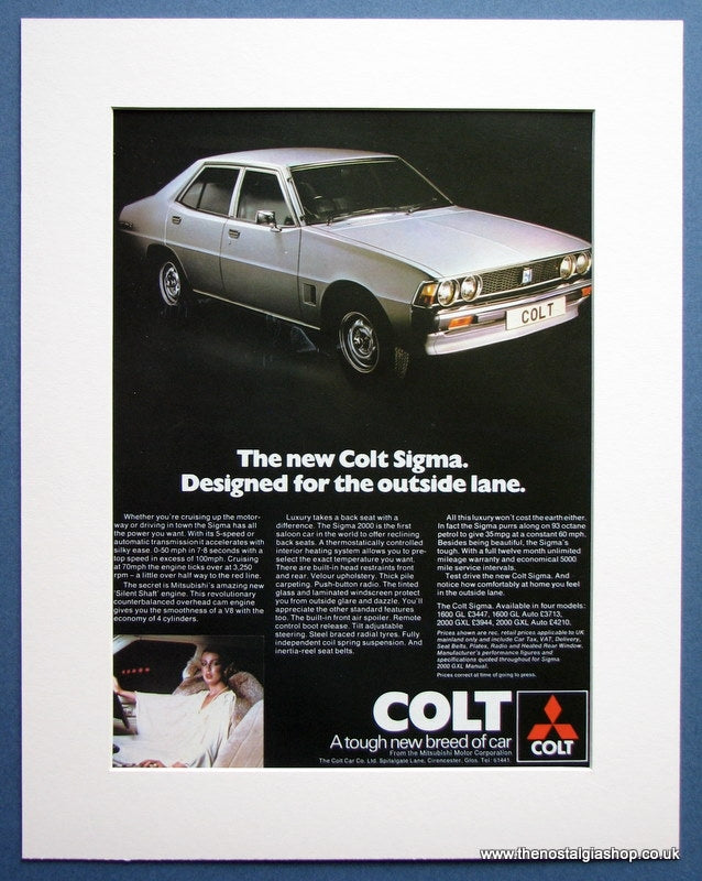 Colt Sigma 1977 Original Advert (ref AD1484)