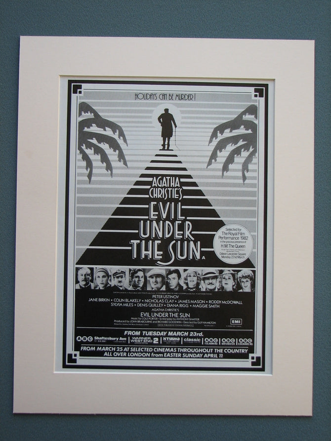 Evil Under The Sun 1982 Original advert (ref AD708)