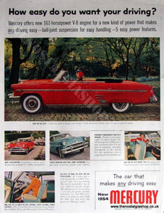 Ford Mercury V8. Original Advert 1954 (ref AD4045)