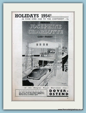 Belgian Royal Mail-Boat Line Original Advert 1954 (ref AD2317)