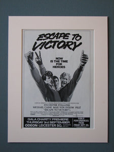 Escape To Victory 1981 Original advert (ref AD449)