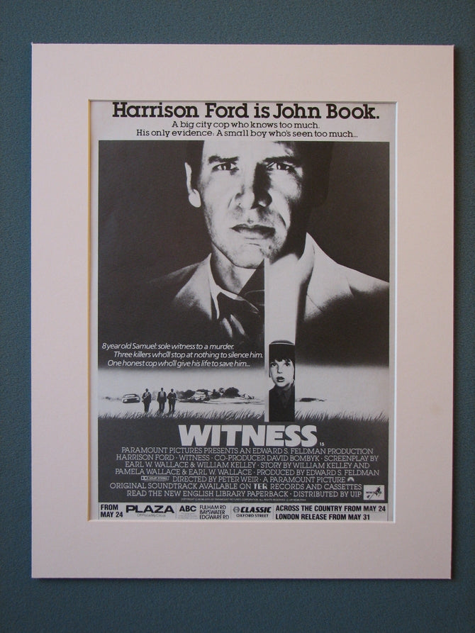 Witness Original Advert (ref AD418)