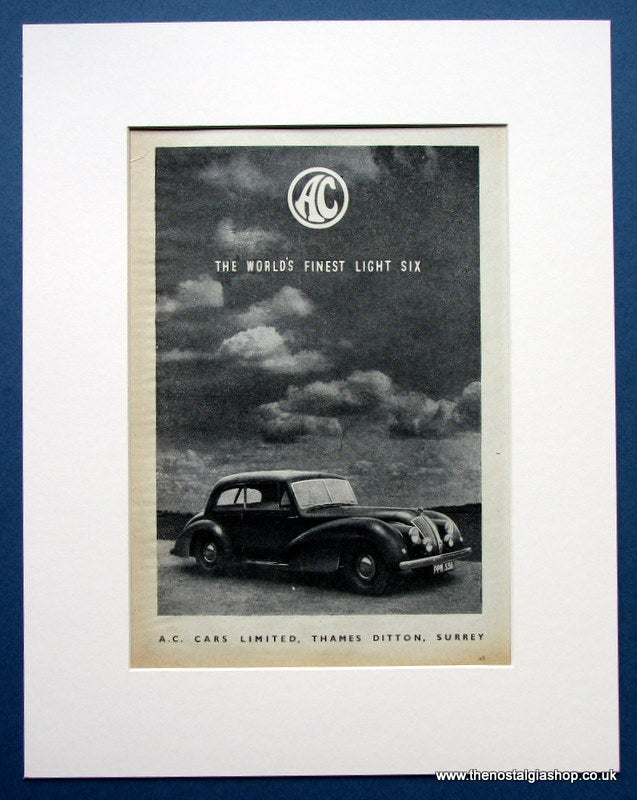 AC 1952 Original Advert (ref AD1449)