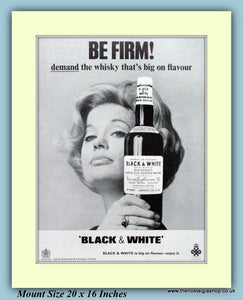 Black And White Whisky Original Advert 1966 (ref AD9210)