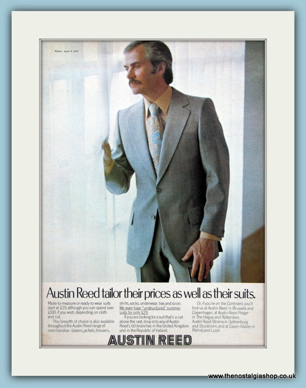 Austin Reed Suits Original Advert 1975 Ref Ad3519 The Nostalgia Shop